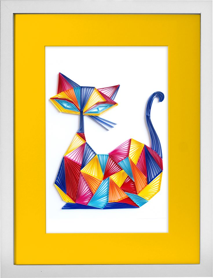 7 best The Modern Cat Collection - Handcrafted Paper Wall Art images ...
