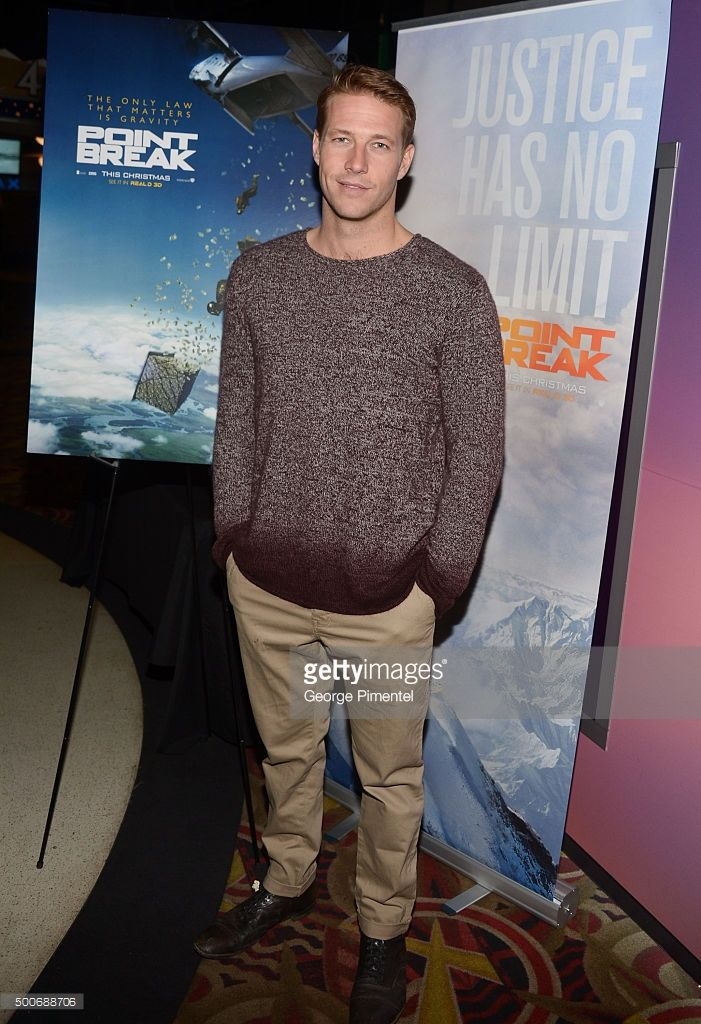 Actor Luke Bracey from the film 'Point Break' surprises Canadian fans at the Toronto advance screening held at Cineplex Odeon Yonge & Dundas Cinemas on December 9, 2015 in Toronto, Canada.