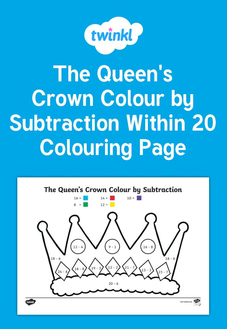 A fun activity to practise subtraction while decorating a crown for the Queen's birthday. Use counters or other concrete materials to support student's problem solving.