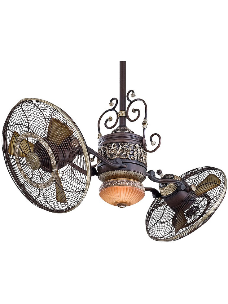 Antique Hardware Ceiling Fan. Traditional Gyro Twin Ceiling Fan In Sterling Walnut Finish