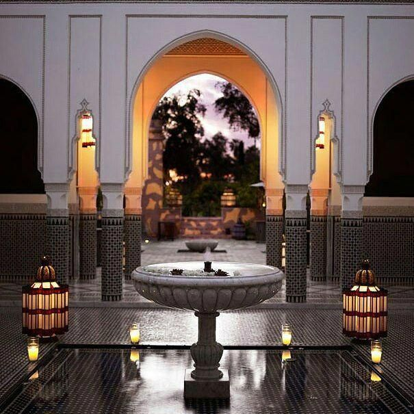 Alf Mabrouk To La Mamounia In Marrakech Who Has Won The Prestigious World Travel Award For Best Leading Hot Moroccan Design Islamic Architecture Moroccan Decor