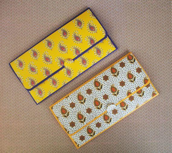 Indian paisley money envelopes gift card or voucher holders