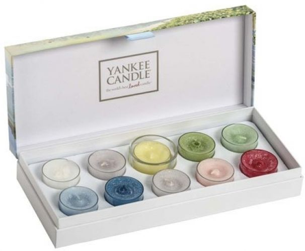 Yankee Candle Gift Set Coastal Living 10 Fragrance Tea Light Candles Natural Soy