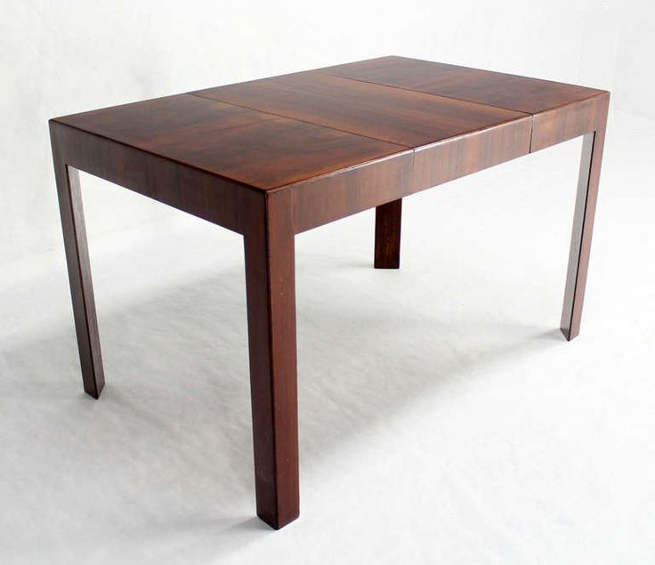 Oiled Walnut Italian Mid Century Modern Game Or Dining Table With One Leaf  | From