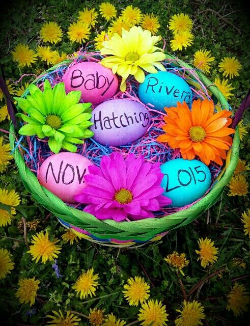 My Easter Pregnancy Announcement