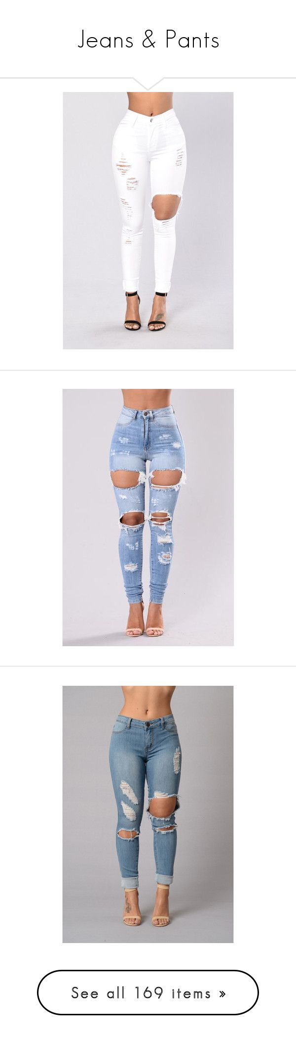 """""""Jeans & Pants"""" by amaryllis76 ❤ liked on Polyvore featuring bottoms, jeans, light blue jeans, pants, light wash jeans, distressed jeans, high waisted blue jeans, high waisted ripped skinny jeans, high-waisted jeans and blue jeans"""