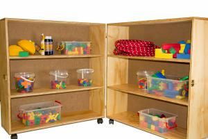 Lockable Materials Cupboard on Castors
