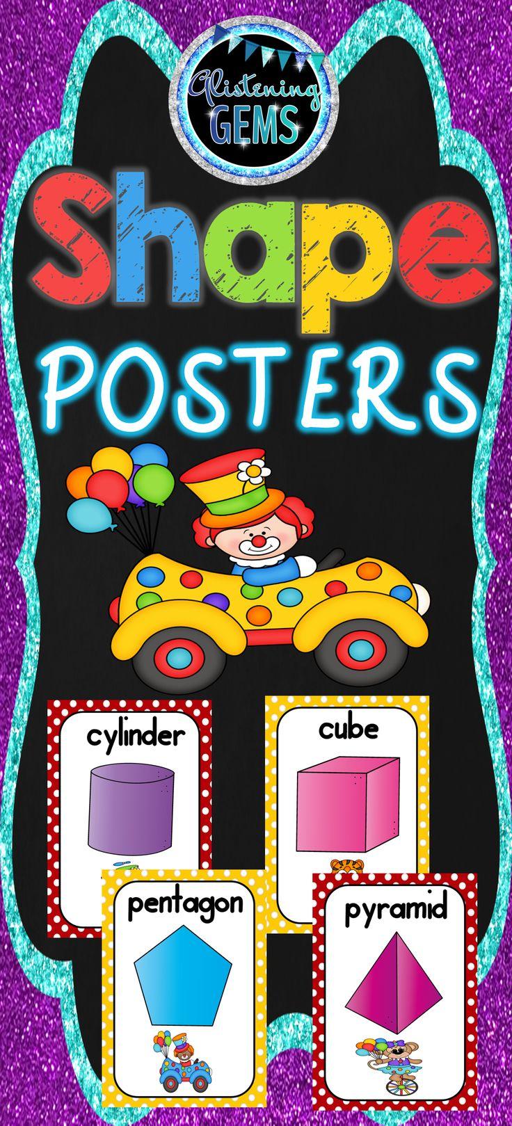 Circus Theme - Shape Posters