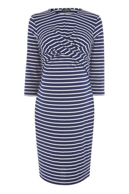 MATERNITY Twist Front Nursing Dress