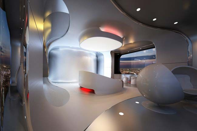 Futuristic Bedroom Design For Luxury Penthouse Luxus