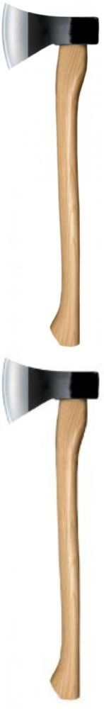 Camping Hatchets and Axes 75234: Cold Steel Hickory Handle Axe Hawk Forge Carbon Garden Hand Tool Sharp Wood BUY IT NOW ONLY: $35.97