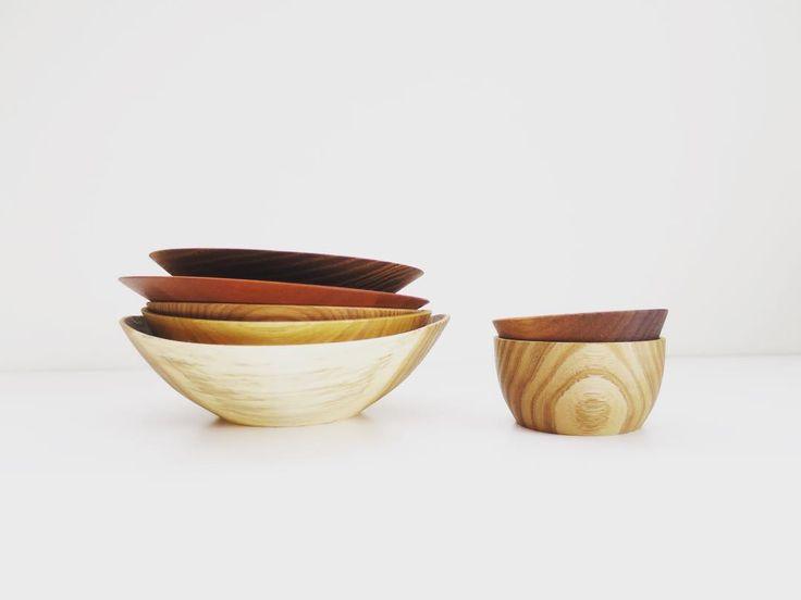 いろいろセット。  #木の器 #木のお皿