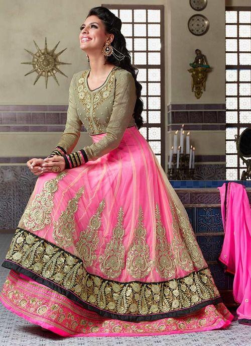 Baby Pink Lacha Indian Ethnic Bridal