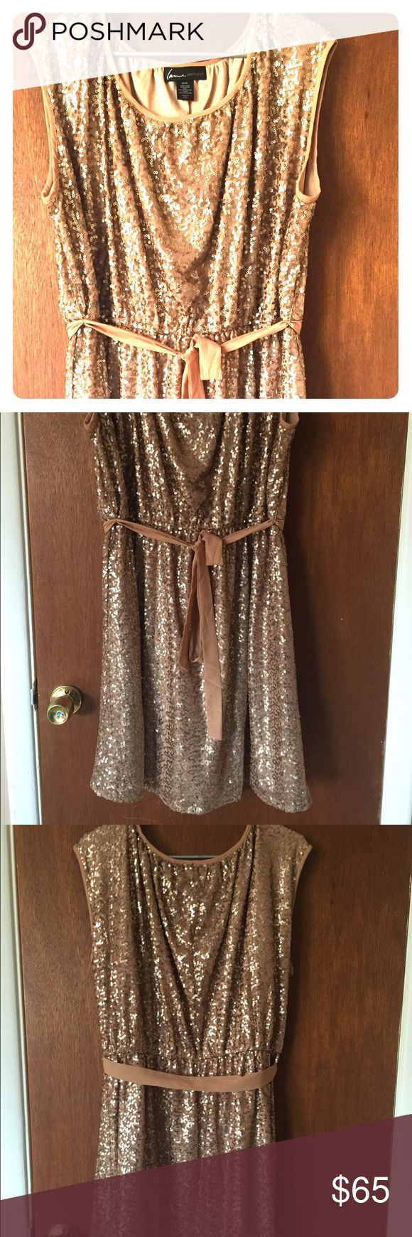 Gold glitter Dress Perfect for a party! Worn once. Size 18/20 perfect condition. Lane Bryant Dresses