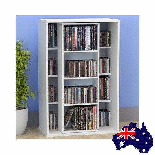Dvd Storage Shelf Holder Cds Books Movies Shelves Study