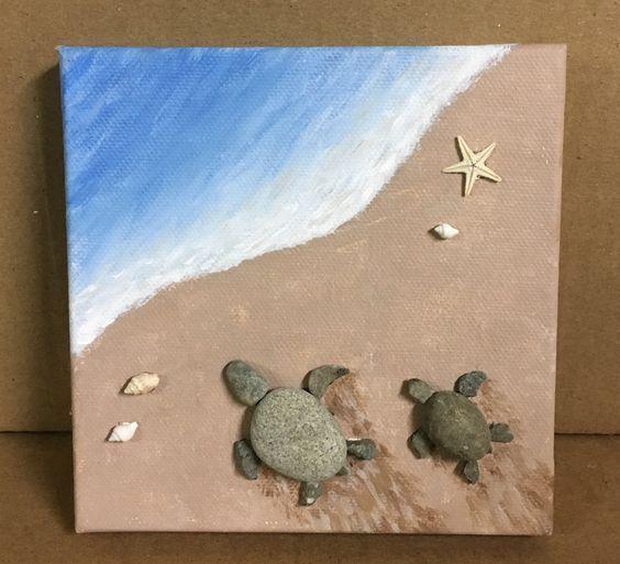 Kieselsteine sind Naturperlen. Sie sind alle natürlich und Sie können wirklich kreativ werden