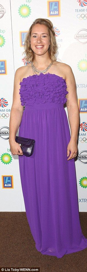 Dressed to impress: Skeleton race Lizzy Yarnold looked pretty in purple, while rower Anna ...