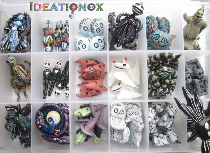 Tim Burton Inspired Charm Collection (unfinished) by Ideationox.deviantart.com on @deviantART