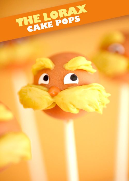 The Lorax Cake Pops by Bakerella