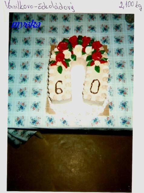 k 60. narozeninám červené a bílé růže