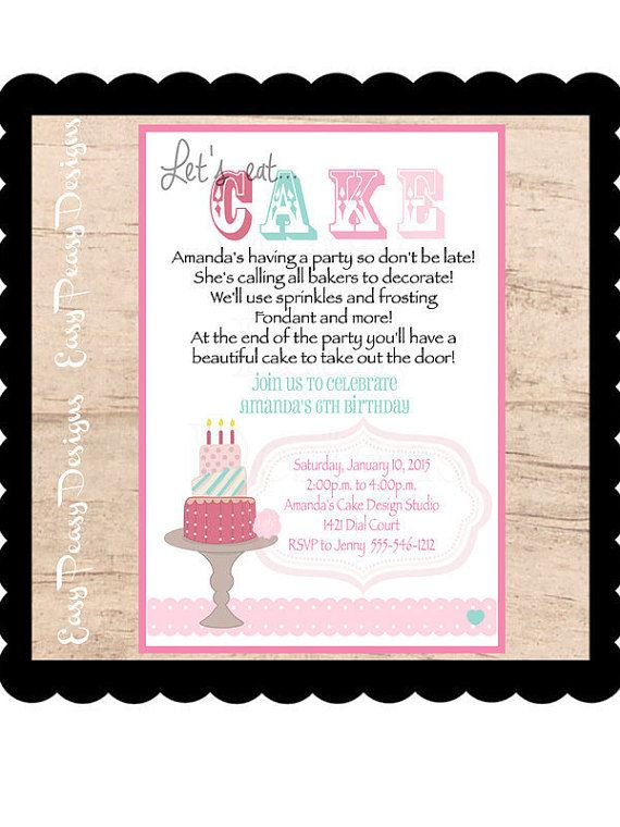 Cake Decorating Birthday Party Invitations : 1000+ ideas about Boss Birthday on Pinterest Chef hats ...