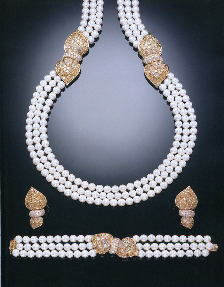 A SUITE OF FINE CULTURED PEARL, DIAMOND AND COLOURED DIAMOND JEWELLERY, BY TABBAH