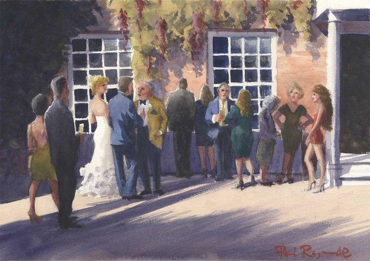 Live Event Painting - Wedding Artist - Paul Raymonde Watercolour