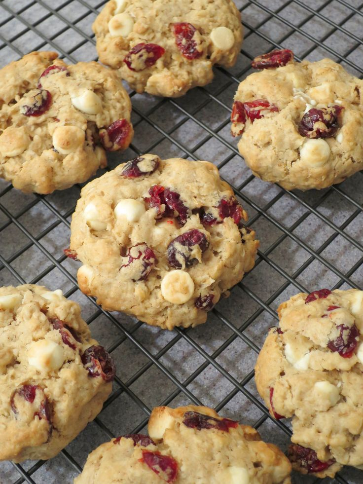 These Oatmeal Cookies with Cranberries and White Chocolate are so soft, chewy and moist. I am enjoying a bite after bite of this deliciousness, and cannot have enough of it… They have a perfect sof…