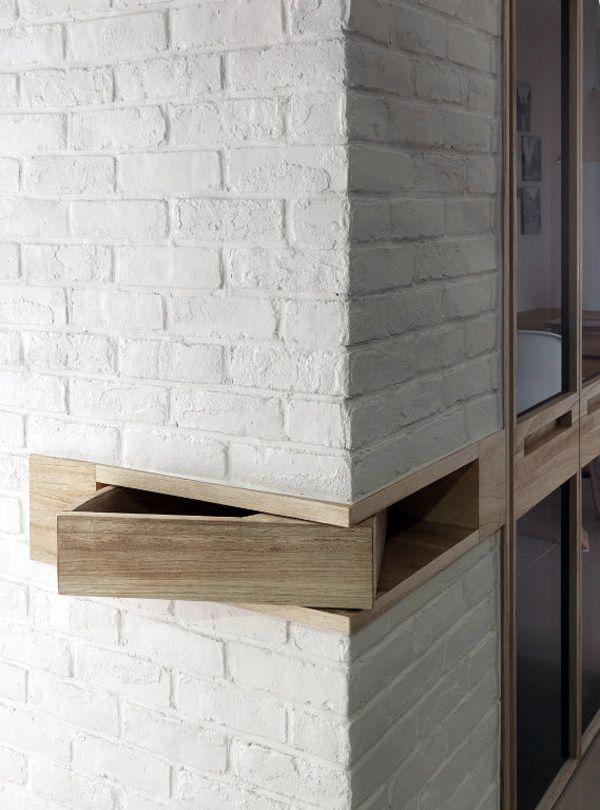 Corner storage. 돌 나무