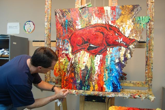 "Arkansas news, politics, opinion, restaurants, music, movies and art | Image Archives | Matthews painting ""Razorback Pride"""