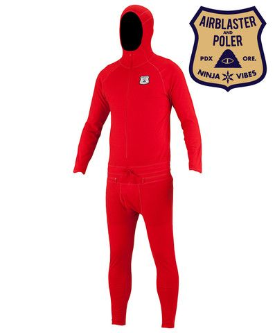 Airblaster x Poler™ Ninja Suit long underwear made with Merino Wool with 4-way stretch.