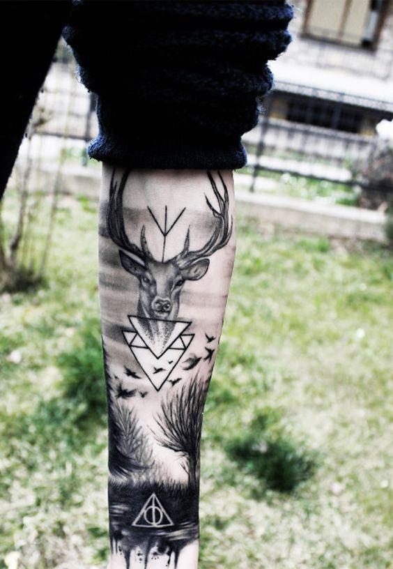 tatuajes hipsters / venado