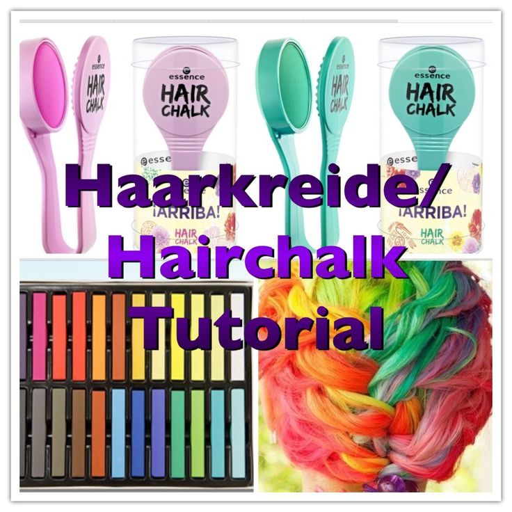 Hair Chalk / Haar Kreide Tutorial Deutsch | louli Boehm