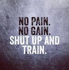 No Pain No Gain Shut Up And Train!