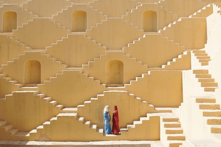 Baoli at Amer, a water well in the city of Japiur in India's Rajasthan Thar desert