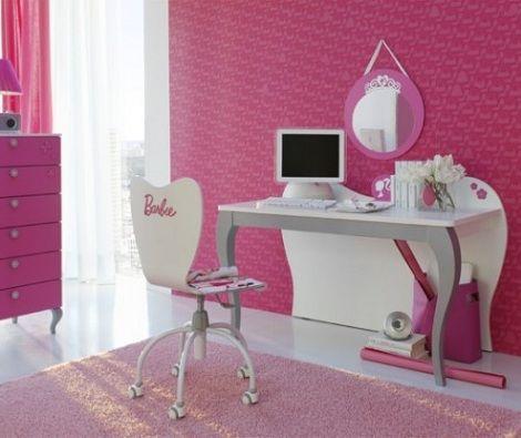 habitacion princesa barbie escritorio
