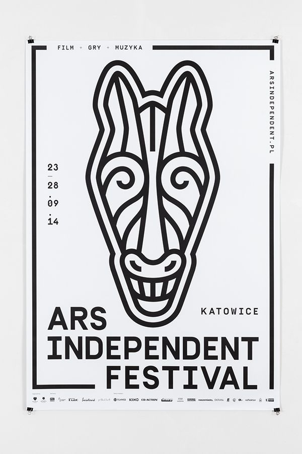 Love the simple yet strong design of this poster for Ars Independent Festival 2014.