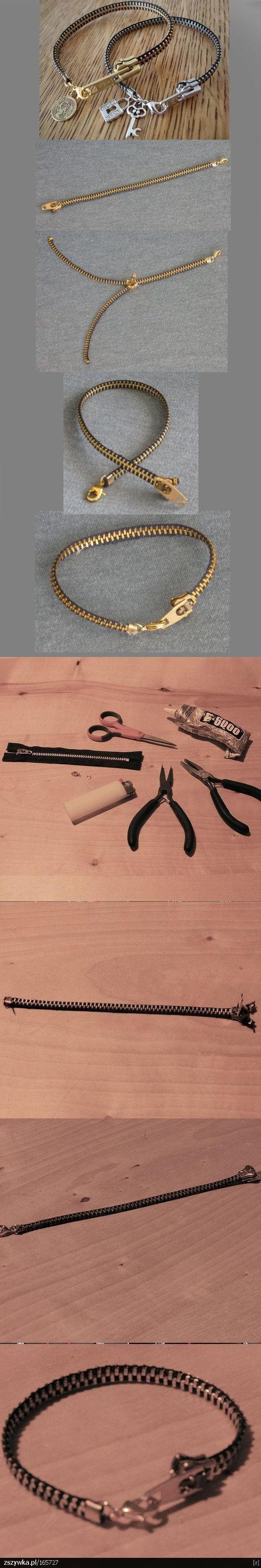 DIY Zipper Bracelet