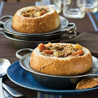 Peppered Beef SoupBreads Bowls, Pots Roasted, Slow Cooker Recipe, Food, Beef Stews, Peppers Beef, Beef Soup, Crockpot Recipe, Soup Recipes