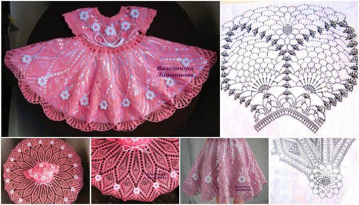 Evinizin minik prenseslerinin kendisini tam bir prenses gibi hissetmesini sağlayacak yarım kol örgü çocuk elbisesi tam seveceğiniz bir model.