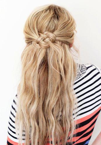 Celtic knot hair tutorial http://www.twistmepretty.com/2013/03/celtic-knot-tutorial.html