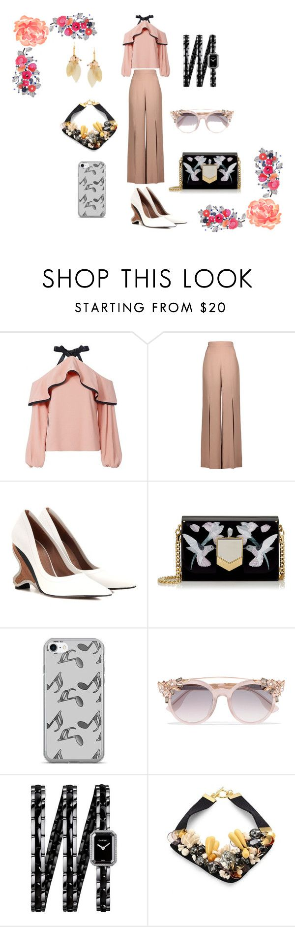 """welcoming february"" by rennyliayustika on Polyvore featuring Alexis, Cushnie Et Ochs, Marni, Jimmy Choo, Music Notes and Chanel"