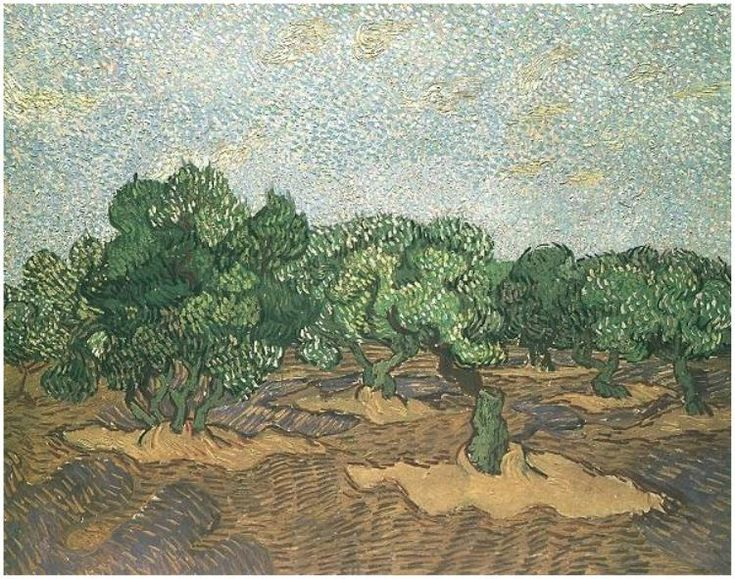Olive Grove: Pale Blue Sky Vincent van Gogh Painting, Oil on Canvas Saint-Rémy: November, 1889 The Metropolitan Museum of Art New York, New York, United States of America, North America F: ;708, ;JH: ;1855