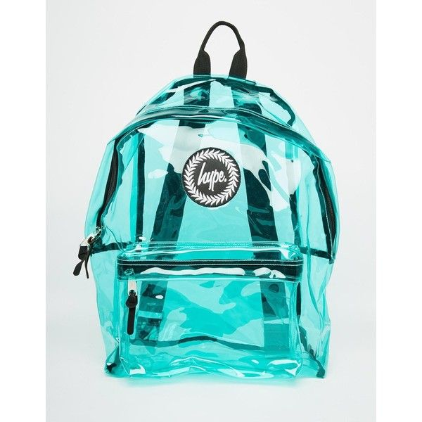 Hype Backpack in Green Perspex (935 UAH) ❤ liked on Polyvore featuring bags, backpacks, green, knapsack bags, transparent backpack, green bags, backpacks bags e lucite bag