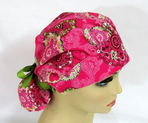 Womens Bouffant  Surgical Scrub Hat or Cap by ScrubsbyEdie on Etsy, $16.00