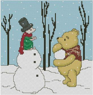Pooh counted cross stitch patterns.  Like these!