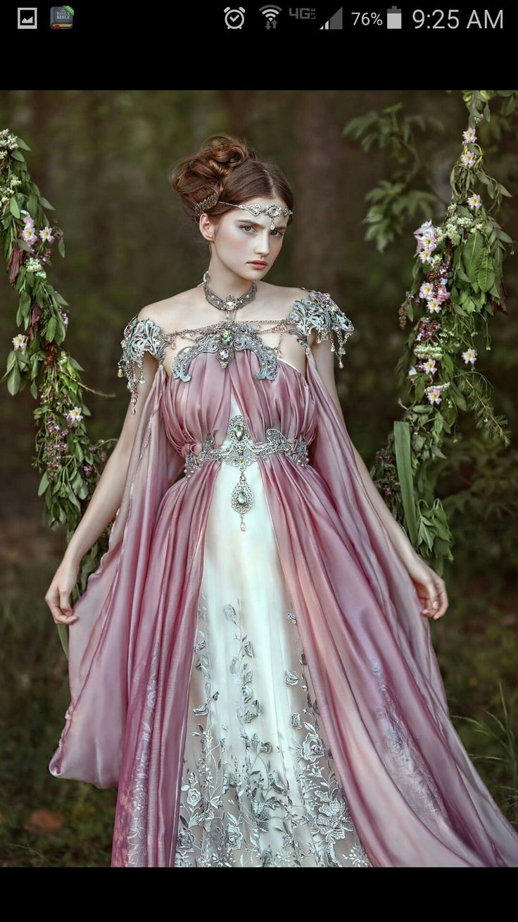 Love this shoulder adornment. Beautiful!! I wish I could add some color to my wedding gown, but Fiancé really really really wants me in all white. I'm dressing for him because I'm committing to him. #Fairytale #Love #Gowns