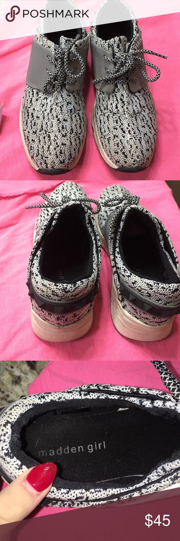 madden girl tennis shoes size 7 madden girl tennis shoes w/ reflectives. perfect condition. i got a size too small, so selling :( i will clean them before i mail them out! Shoes Sneakers
