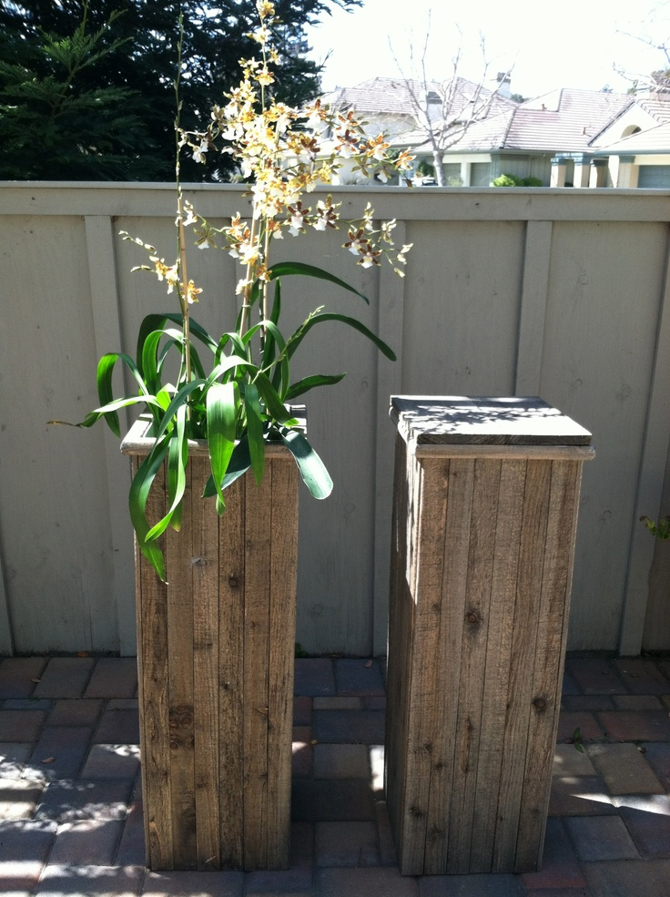 Wood Plant Stands Pallet Craft Pinterest Shelves