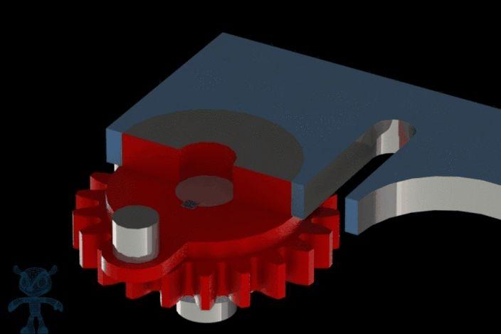 Hydrostatic Transmission Animation : Linear indexing geneva mechanism mechanisms gears